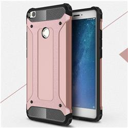 King Kong Armor Premium Shockproof Dual Layer Rugged Hard Cover for Xiaomi Mi Max 2 - Rose Gold