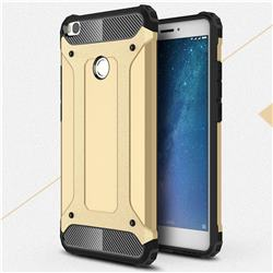 King Kong Armor Premium Shockproof Dual Layer Rugged Hard Cover for Xiaomi Mi Max 2 - Champagne Gold