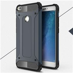 King Kong Armor Premium Shockproof Dual Layer Rugged Hard Cover for Xiaomi Mi Max 2 - Navy