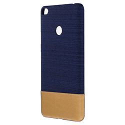 Canvas Cloth Coated Plastic Back Cover for Xiaomi Mi Max 2 - Dark Blue