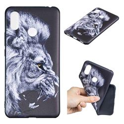 Lion 3D Embossed Relief Black TPU Cell Phone Back Cover for Xiaomi Mi Max 3