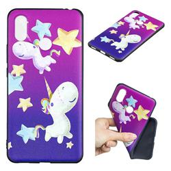 Pony 3D Embossed Relief Black TPU Cell Phone Back Cover for Xiaomi Mi Max 3