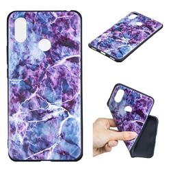 Marble 3D Embossed Relief Black TPU Cell Phone Back Cover for Xiaomi Mi Max 3