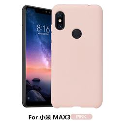 Howmak Slim Liquid Silicone Rubber Shockproof Phone Case Cover for Xiaomi Mi Max 3 - Pink