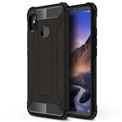 King Kong Armor Premium Shockproof Dual Layer Rugged Hard Cover for Xiaomi Mi Max 3 - Black Gold