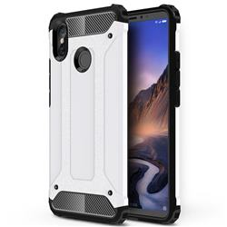 King Kong Armor Premium Shockproof Dual Layer Rugged Hard Cover for Xiaomi Mi Max 3 - White
