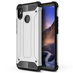 King Kong Armor Premium Shockproof Dual Layer Rugged Hard Cover for Xiaomi Mi Max 3 - Technology Silver