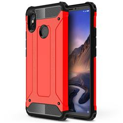 King Kong Armor Premium Shockproof Dual Layer Rugged Hard Cover for Xiaomi Mi Max 3 - Big Red