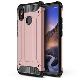 King Kong Armor Premium Shockproof Dual Layer Rugged Hard Cover for Xiaomi Mi Max 3 - Rose Gold