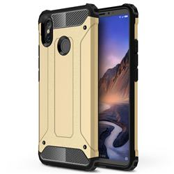 King Kong Armor Premium Shockproof Dual Layer Rugged Hard Cover for Xiaomi Mi Max 3 - Champagne Gold