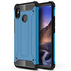 King Kong Armor Premium Shockproof Dual Layer Rugged Hard Cover for Xiaomi Mi Max 3 - Sky Blue
