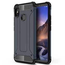 King Kong Armor Premium Shockproof Dual Layer Rugged Hard Cover for Xiaomi Mi Max 3 - Navy