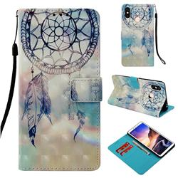 Fantasy Campanula 3D Painted Leather Wallet Case for Xiaomi Mi Max 3