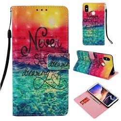 Colorful Dream Catcher 3D Painted Leather Wallet Case for Xiaomi Mi Max 3