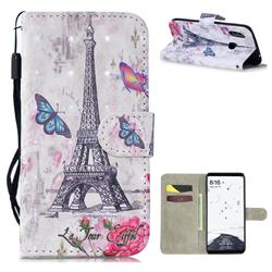 Paris Tower 3D Painted Leather Wallet Phone Case for Xiaomi Mi Max 3