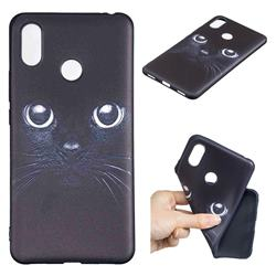 Bearded Feline 3D Embossed Relief Black TPU Cell Phone Back Cover for Xiaomi Mi Max 3 Pro