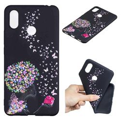 Corolla Girl 3D Embossed Relief Black TPU Cell Phone Back Cover for Xiaomi Mi Max 3 Pro