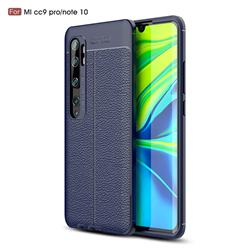 Luxury Auto Focus Litchi Texture Silicone TPU Back Cover for Xiaomi Mi Note 10 / Note 10 Pro / CC9 Pro - Dark Blue