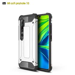 King Kong Armor Premium Shockproof Dual Layer Rugged Hard Cover for Xiaomi Mi Note 10 / Note 10 Pro / CC9 Pro - White
