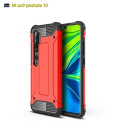 King Kong Armor Premium Shockproof Dual Layer Rugged Hard Cover for Xiaomi Mi Note 10 / Note 10 Pro / CC9 Pro - Big Red