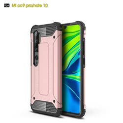 King Kong Armor Premium Shockproof Dual Layer Rugged Hard Cover for Xiaomi Mi Note 10 / Note 10 Pro / CC9 Pro - Rose Gold