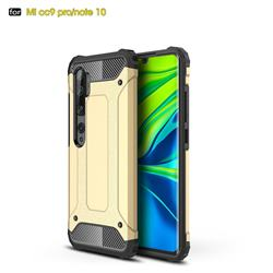 King Kong Armor Premium Shockproof Dual Layer Rugged Hard Cover for Xiaomi Mi Note 10 / Note 10 Pro / CC9 Pro - Champagne Gold