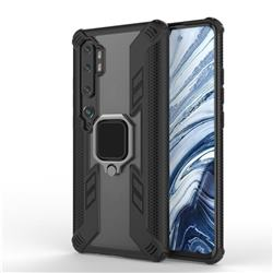 Predator Armor Metal Ring Grip Shockproof Dual Layer Rugged Hard Cover for Xiaomi Mi Note 10 / Note 10 Pro / CC9 Pro - Black