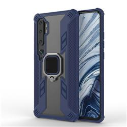 Predator Armor Metal Ring Grip Shockproof Dual Layer Rugged Hard Cover for Xiaomi Mi Note 10 / Note 10 Pro / CC9 Pro - Blue
