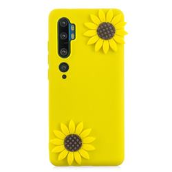 Yellow Sunflower Soft 3D Silicone Case for Xiaomi Mi Note 10 / Note 10 Pro / CC9 Pro