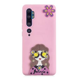 Violet Girl Soft 3D Silicone Case for Xiaomi Mi Note 10 / Note 10 Pro / CC9 Pro