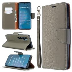 Classic Luxury Litchi Leather Phone Wallet Case for Xiaomi Mi Note 10 / Note 10 Pro / CC9 Pro - Gray
