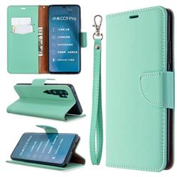 Classic Luxury Litchi Leather Phone Wallet Case for Xiaomi Mi Note 10 / Note 10 Pro / CC9 Pro - Green