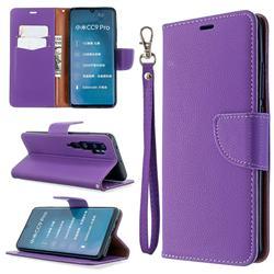 Classic Luxury Litchi Leather Phone Wallet Case for Xiaomi Mi Note 10 / Note 10 Pro / CC9 Pro - Purple