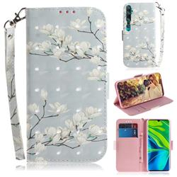 Magnolia Flower 3D Painted Leather Wallet Phone Case for Xiaomi Mi Note 10 / Note 10 Pro / CC9 Pro
