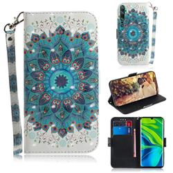 Peacock Mandala 3D Painted Leather Wallet Phone Case for Xiaomi Mi Note 10 / Note 10 Pro / CC9 Pro