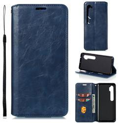 Retro Slim Magnetic Crazy Horse PU Leather Wallet Case for Xiaomi Mi Note 10 / Note 10 Pro / CC9 Pro - Blue