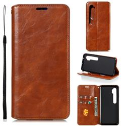 Retro Slim Magnetic Crazy Horse PU Leather Wallet Case for Xiaomi Mi Note 10 / Note 10 Pro / CC9 Pro - Brown