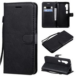 Retro Greek Classic Smooth PU Leather Wallet Phone Case for Xiaomi Mi Note 10 / Note 10 Pro / CC9 Pro - Black