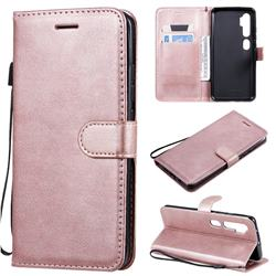 Retro Greek Classic Smooth PU Leather Wallet Phone Case for Xiaomi Mi Note 10 / Note 10 Pro / CC9 Pro - Rose Gold