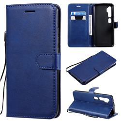 Retro Greek Classic Smooth PU Leather Wallet Phone Case for Xiaomi Mi Note 10 / Note 10 Pro / CC9 Pro - Blue
