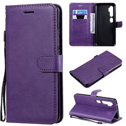 Retro Greek Classic Smooth PU Leather Wallet Phone Case for Xiaomi Mi Note 10 / Note 10 Pro / CC9 Pro - Purple