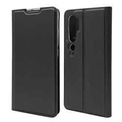 Ultra Slim Card Magnetic Automatic Suction Leather Wallet Case for Xiaomi Mi Note 10 / Note 10 Pro / CC9 Pro - Star Grey
