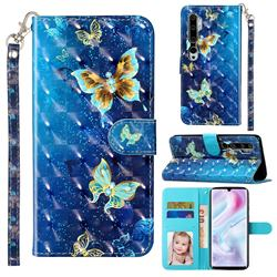 Rankine Butterfly 3D Leather Phone Holster Wallet Case for Xiaomi Mi Note 10 / Note 10 Pro / CC9 Pro