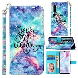 Blue Starry Sky 3D Leather Phone Holster Wallet Case for Xiaomi Mi Note 10 / Note 10 Pro / CC9 Pro