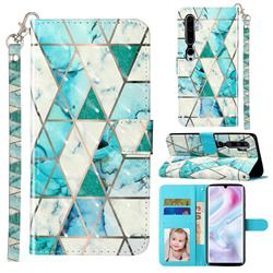 Stitching Marble 3D Leather Phone Holster Wallet Case for Xiaomi Mi Note 10 / Note 10 Pro / CC9 Pro
