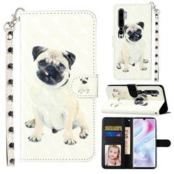 Pug Dog 3D Leather Phone Holster Wallet Case for Xiaomi Mi Note 10 / Note 10 Pro / CC9 Pro