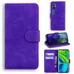 Retro Classic Skin Feel Leather Wallet Phone Case for Xiaomi Mi Note 10 / Note 10 Pro / CC9 Pro - Purple