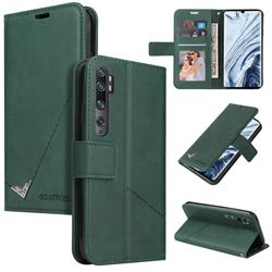 GQ.UTROBE Right Angle Silver Pendant Leather Wallet Phone Case for Xiaomi Mi Note 10 / Note 10 Pro / CC9 Pro - Green