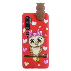 Bow Owl Soft 3D Climbing Doll Soft Case for Xiaomi Mi Note 10 Lite