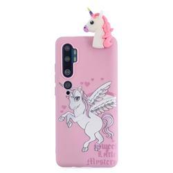 Wings Unicorn Soft 3D Climbing Doll Soft Case for Xiaomi Mi Note 10 Lite